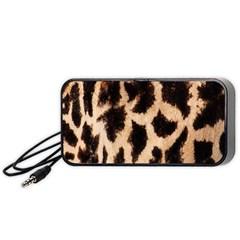 Giraffe Texture Yellow And Brown Spots On Giraffe Skin Portable Speaker (black)