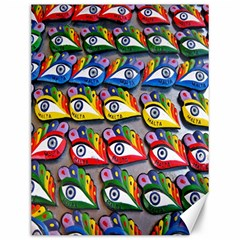 The Eye Of Osiris As Seen On Mediterranean Fishing Boats For Good Luck Canvas 12  x 16   by Nexatart
