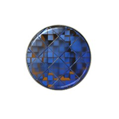 Glass Abstract Art Pattern Hat Clip Ball Marker (4 pack) by Nexatart