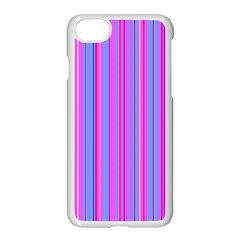 Blue And Pink Stripes Apple Iphone 7 Seamless Case (white) by Nexatart