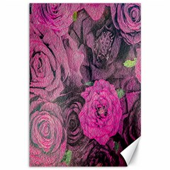Oil Painting Flowers Background Canvas 12  X 18   by Nexatart