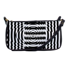 Black And White Abstract Stripped Geometric Background Shoulder Clutch Bags by Nexatart