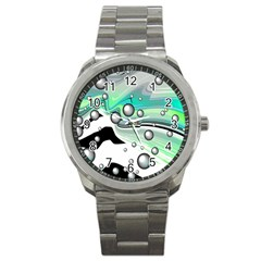 Small And Big Bubbles Sport Metal Watch