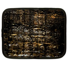 Wood Texture Dark Background Pattern Netbook Case (XXL)  by Nexatart