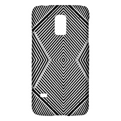 Black And White Line Abstract Galaxy S5 Mini by Nexatart