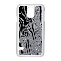 Abstract Swirling Pattern Background Wallpaper Samsung Galaxy S5 Case (white) by Nexatart