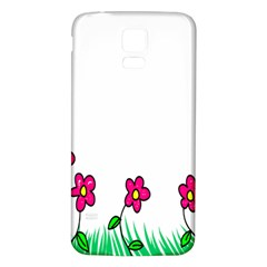 Floral Doodle Flower Border Cartoon Samsung Galaxy S5 Back Case (white) by Nexatart