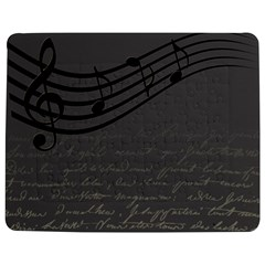 Music Clef Background Texture Jigsaw Puzzle Photo Stand (rectangular) by Nexatart