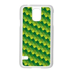 Dragon Scale Scales Pattern Samsung Galaxy S5 Case (white) by Nexatart