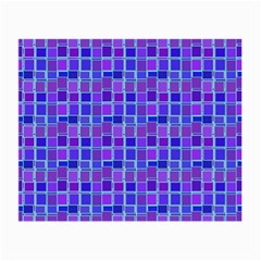 Background Mosaic Purple Blue Small Glasses Cloth (2 Side) by Nexatart