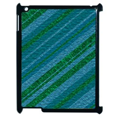 Stripes Course Texture Background Apple iPad 2 Case (Black) by Nexatart