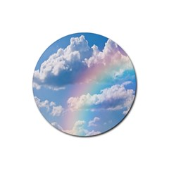 Sky Pattern Rubber Round Coaster (4 Pack)  by Valentinaart