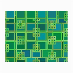 Green Abstract Geometric Small Glasses Cloth (2 Side) by Nexatart