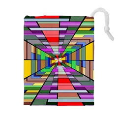 Art Vanishing Point Vortex 3d Drawstring Pouches (extra Large) by Nexatart