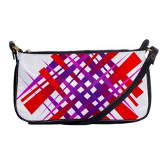 Chaos Bright Gradient Red Blue Shoulder Clutch Bags by Nexatart