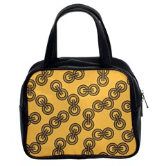 Abstract Shapes Links Design Classic Handbags (2 Sides) by Nexatart