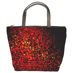Red Particles Background Bucket Bags by Nexatart