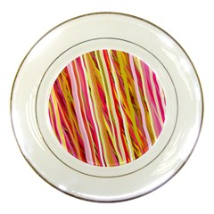 Color Ribbons Background Wallpaper Porcelain Plates by Nexatart