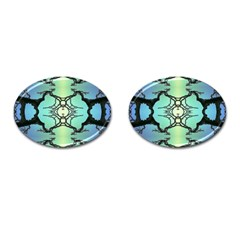 Branches With Diffuse Colour Background Cufflinks (Oval) by Nexatart