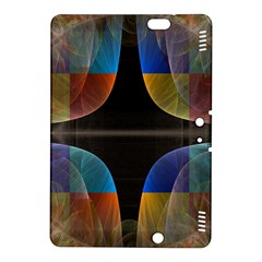 Black Cross With Color Map Fractal Image Of Black Cross With Color Map Kindle Fire HDX 8.9  Hardshell Case by Nexatart