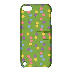 Balloon Grass Party Green Purple Apple Ipod Touch 5 Hardshell Case With Stand by Nexatart