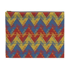 Aztec South American Pattern Zig Zag Cosmetic Bag (xl) by Nexatart