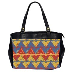 Aztec South American Pattern Zig Zag Office Handbags (2 Sides)  by Nexatart