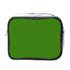 Paper Pattern Green Scrapbooking Mini Toiletries Bags by Nexatart
