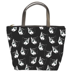 Cat pattern Bucket Bags by Valentinaart