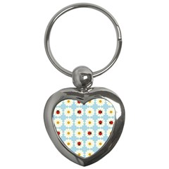 Ladybugs Pattern Key Chains (heart)  by linceazul