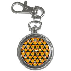 Yellow Pink Shapes Pattern         Key Chain Watch by LalyLauraFLM