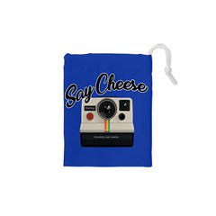 Say Cheese Drawstring Pouches (XS)  by Valentinaart