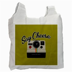 Say Cheese Recycle Bag (one Side) by Valentinaart