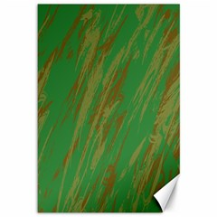 Brown Green Texture             Canvas 12  X 18  by LalyLauraFLM