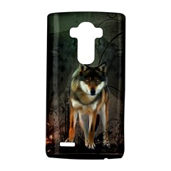 Awesome Wolf In The Night Lg G4 Hardshell Case by FantasyWorld7