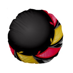 Hole Circle Line Red Yellow Black Gray Standard 15  Premium Flano Round Cushions by Mariart