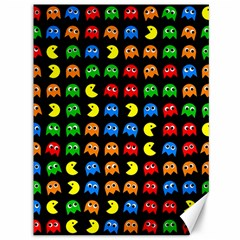 Pacman Seamless Generated Monster Eat Hungry Eye Mask Face Rainbow Color Canvas 36  X 48   by Mariart
