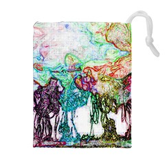 Colors Drawstring Pouches (extra Large) by Valentinaart