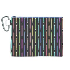 Pencil Stationery Rainbow Vertical Color Canvas Cosmetic Bag (xl) by Mariart