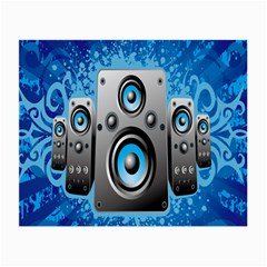 Sound System Music Disco Party Small Glasses Cloth (2 Side) by Mariart