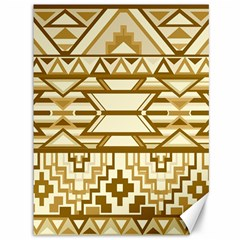 Geometric Seamless Aztec Gold Canvas 36  X 48   by Mariart