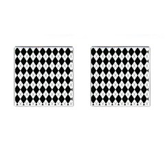 Plaid pattern Cufflinks (Square) by Valentinaart