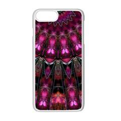 Pink Vortex Half Kaleidoscope  Apple Iphone 7 Plus White Seamless Case