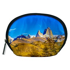 Snowy Andes Mountains, El Chalten, Argentina Accessory Pouches (medium)  by dflcprints