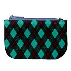 Plaid Pattern Large Coin Purse by Valentinaart