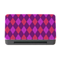 Plaid Pattern Memory Card Reader With Cf by Valentinaart