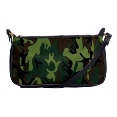 Military Camouflage Pattern Shoulder Clutch Bags by Vayuart