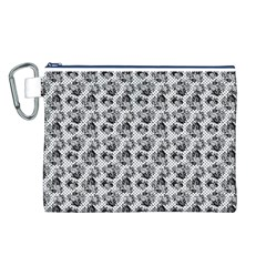 Floral Pattern Canvas Cosmetic Bag (l) by ValentinaDesign