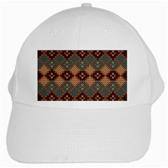 Knitted Pattern White Cap by Vayuart