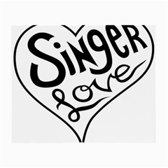 Singer Love Sign Heart Small Glasses Cloth by Mariart